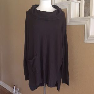Chico's Brown Cowl Neck Tunic Shirt Sz 3 NWT New